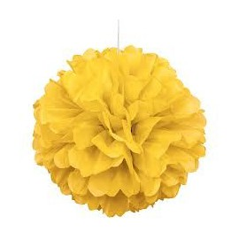 Yellow Fluffy Decoration