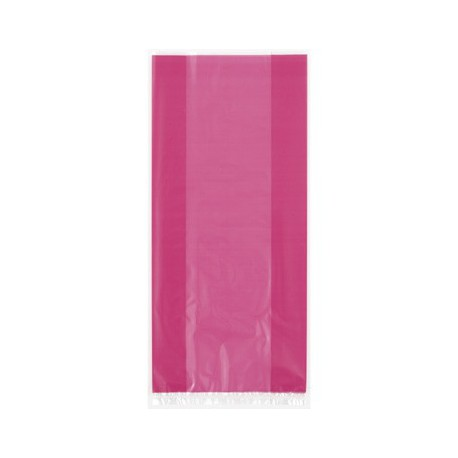Hot pink cellophane bags