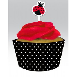 Cupcake Wrapers con Decorazione Coccinella