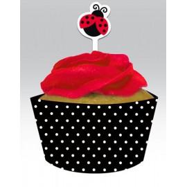 Cupcake Wrapers con Decorazione Coccinella