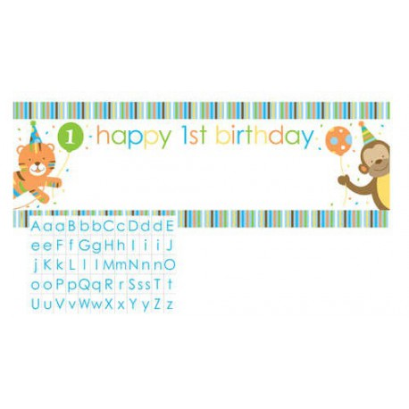 Banner Customizzabile Sweet at One Boy