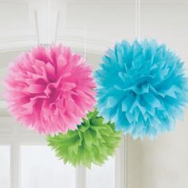 Pendenti Fluffy Multicolorati 3pz