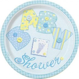 Baby Blue Dessert Plates