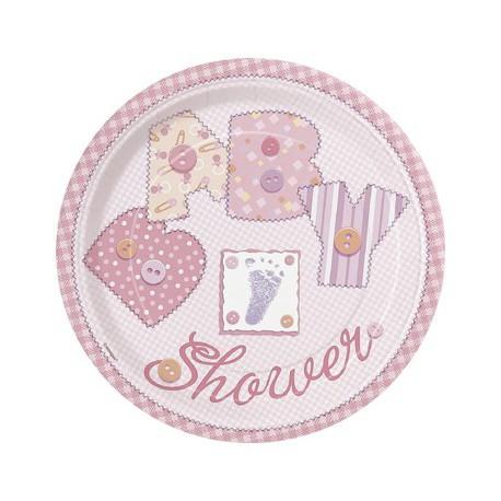 Baby Pink Dessert Plates